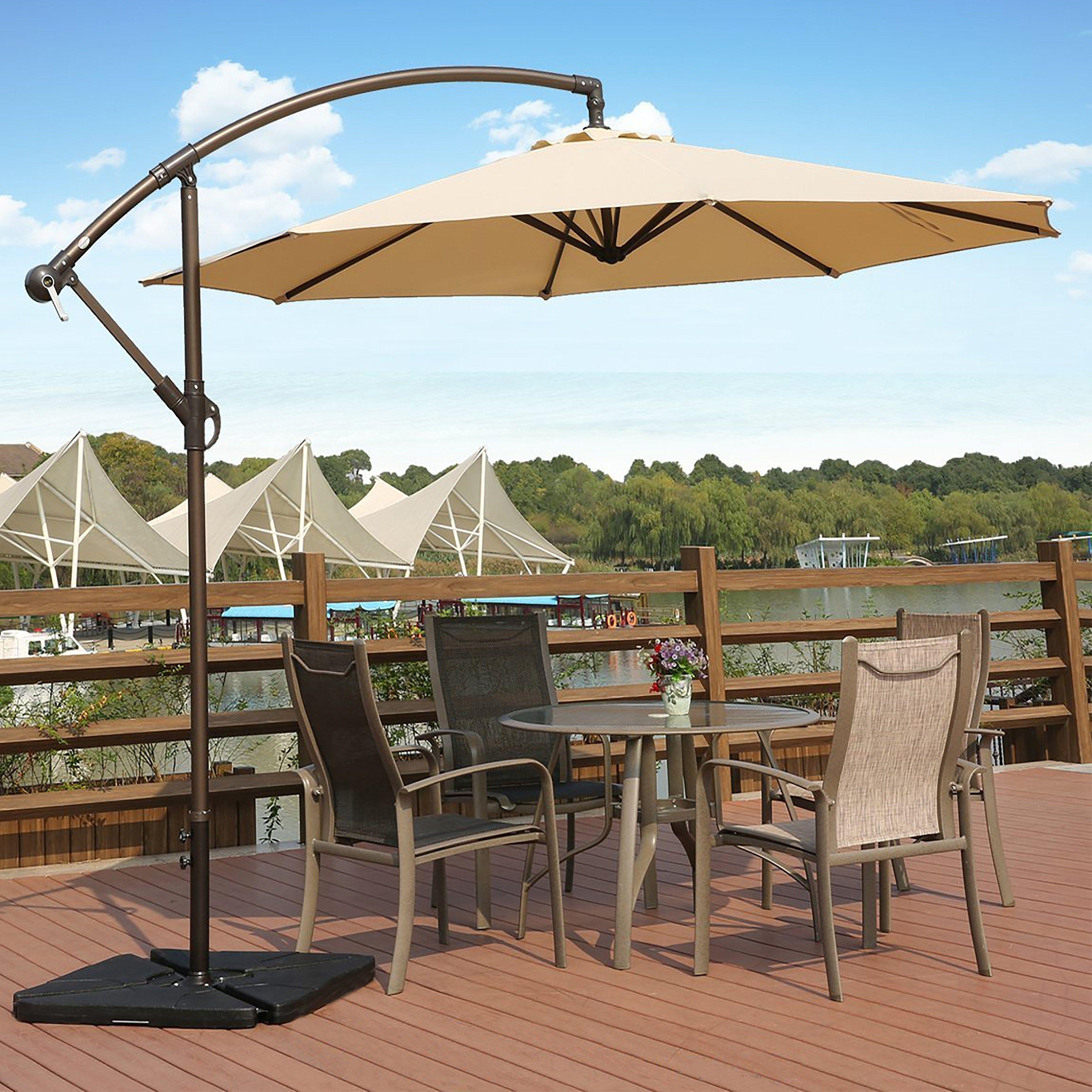 Stylish And Convenient Cantilever Patio Umbrella Best Patio Umbrella Patio Umbrellas Outdoor Patio Umbrellas