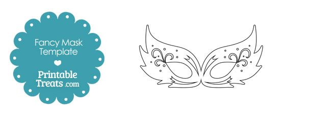 fancy feathery masquerade mask template  with images