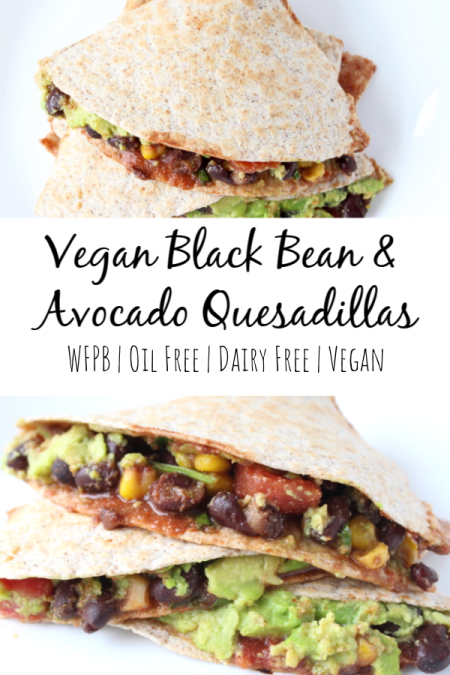 Vegan Black Bean & Avocado Quesadillas Recipe