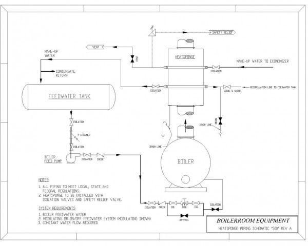 hot water boiler piping diagram