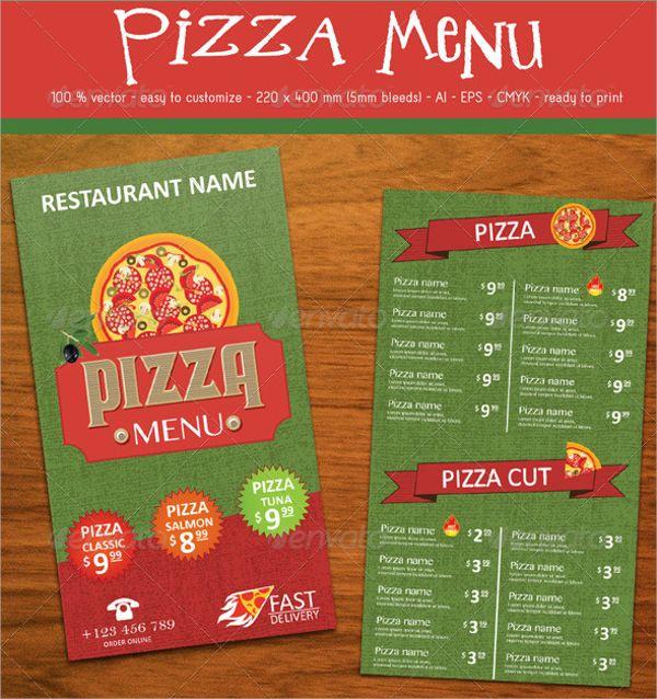 Sample Pizza Menu Template Download Documents Psd Vector Templates