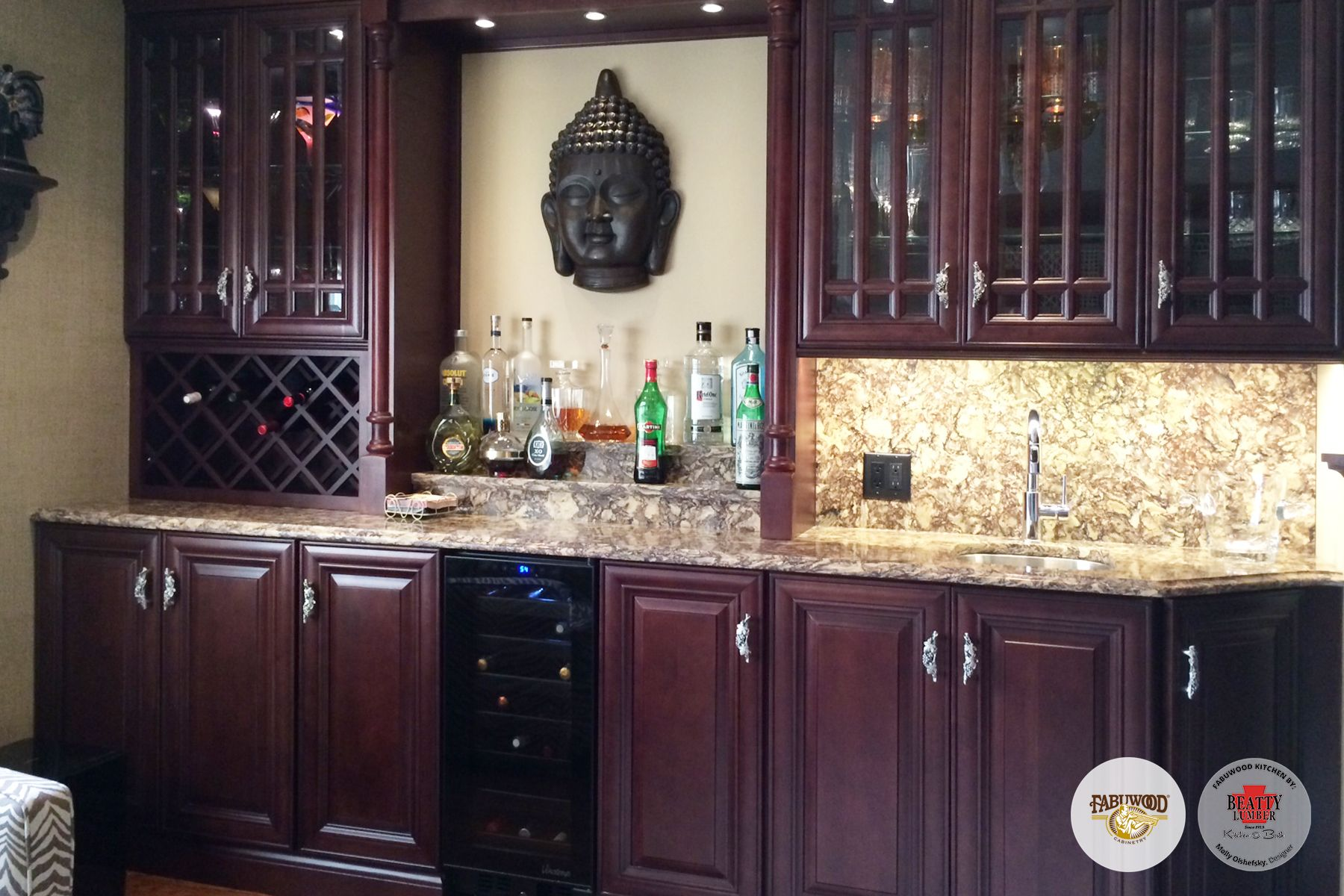 We Love The Richness Of This Elite Merlot Cabinetry And What It Adds To The Home Fabuwood Kitchen Inspirations Kitchen Cabinets In Bathroom Kitchen Cabinetry