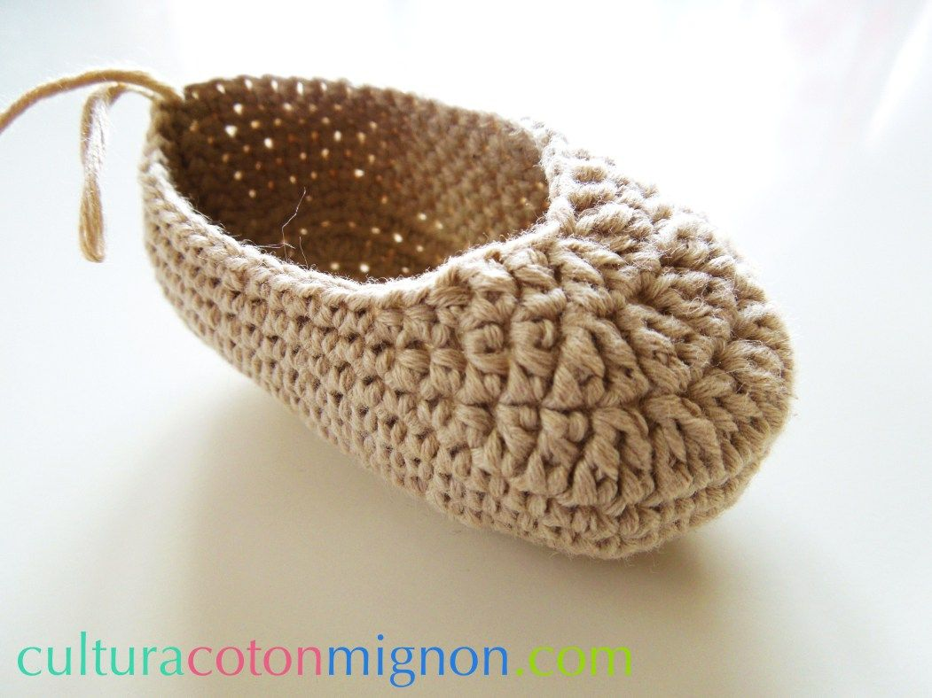 Paso 4 zapato ganchillo bebe | Zapatitos | Pinterest