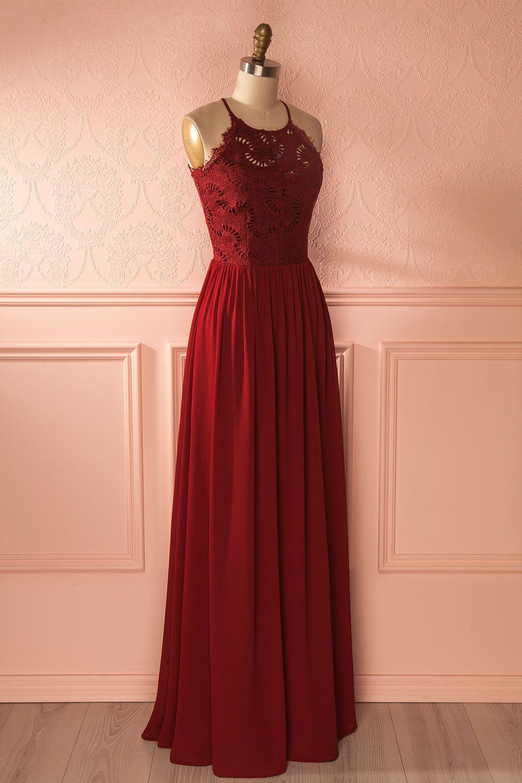 Halley Wine Burgundy Maxi Bridesmaid Dress Maxi Bridesmaid Dresses Womens Skirt Cute Dresses