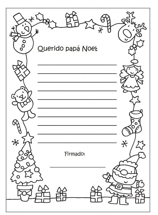 Resultado de imagen para cartas para santa claus para colorear ...