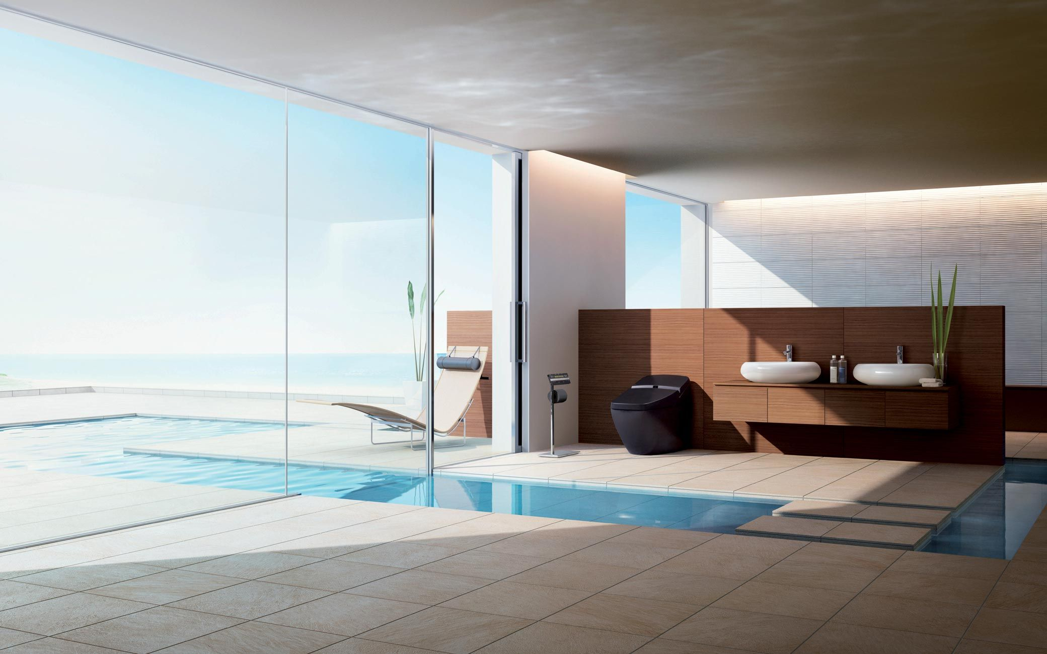Hi tech elegant bathroom design big bathroom beauties - Hightech architektur ...