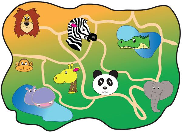 Zoo Map A Map Of A Fictional Zoo Ideal For Early Years