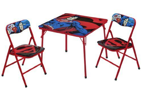 Warner Brothers Superman Table and Chair Set, 3-Piece ...