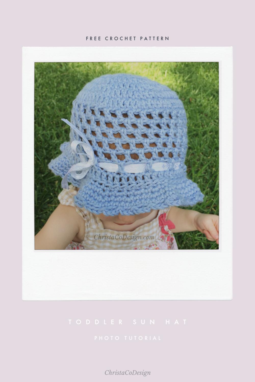 Crochet Toddler Sun Hat Photo Tutorial   Crochet, Crochet patterns ...