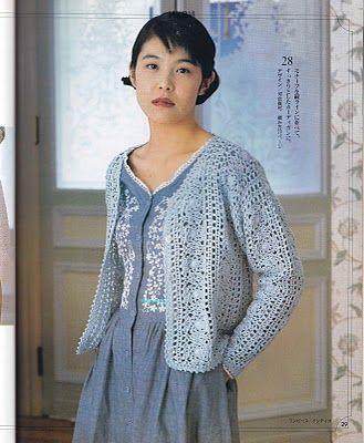 BethSteiner: Casaquinho azul em crochet