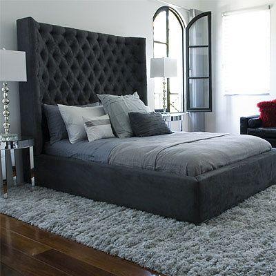Gray Tufted Inspire Bedroom Decor Home Bedroom Bedroom