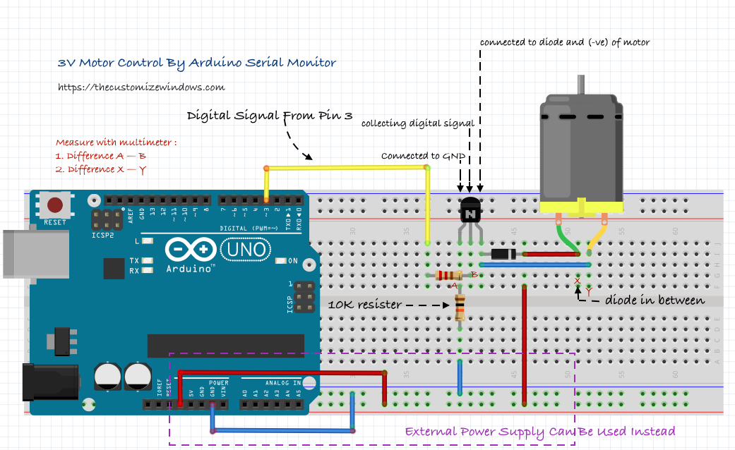 Arduino 3V Motor Control Level I Advanced Speed Variation Arduino
