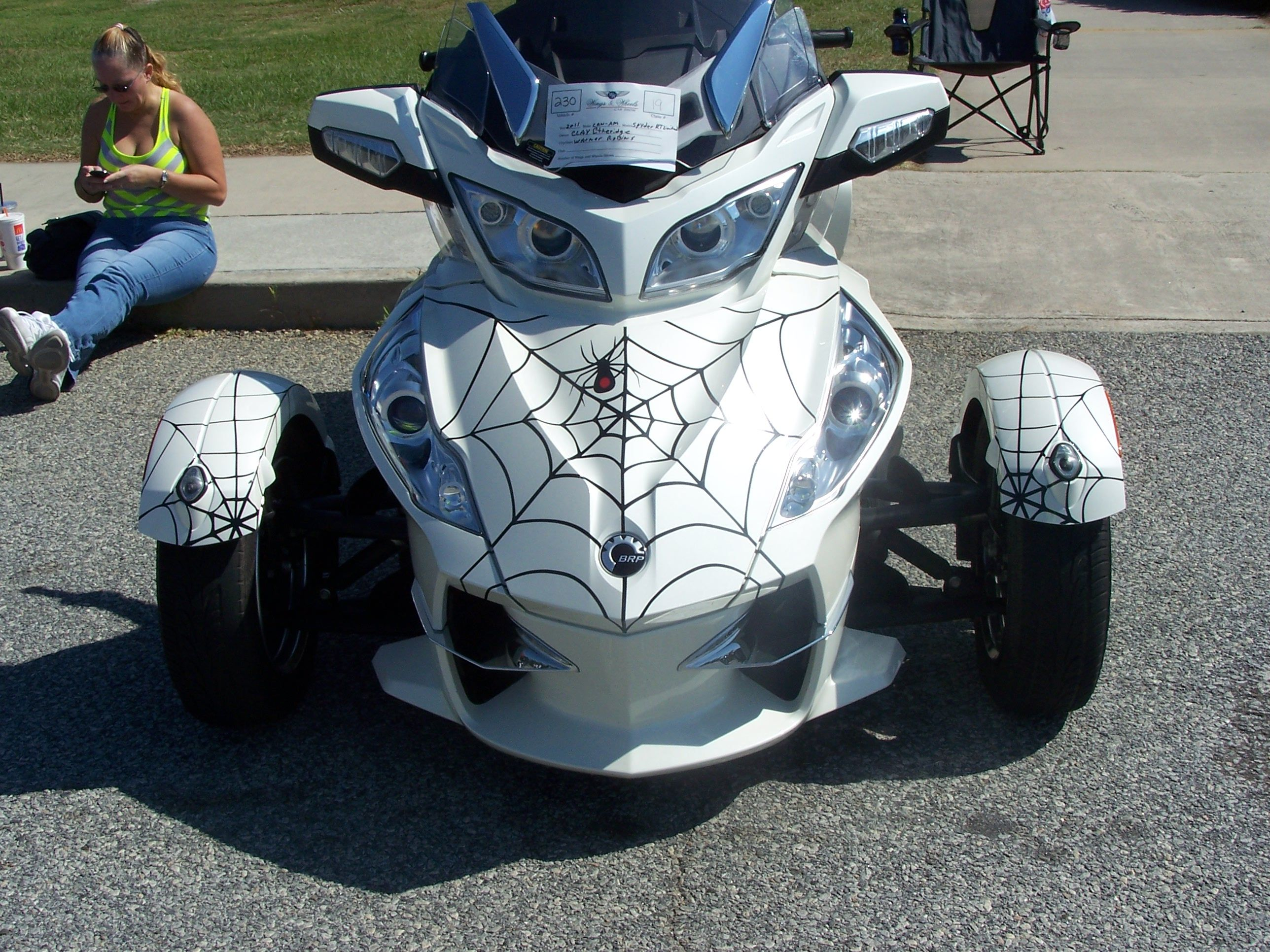 Cam am spyder rt ltd with spider webs