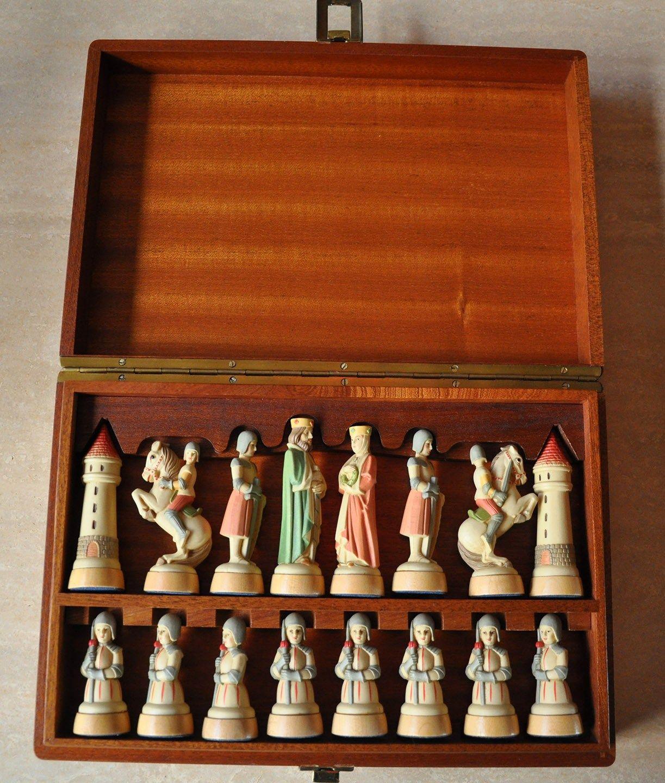 Charlemagne_toriart_in_case Anri Charlemagne Chess Set Ajedrez  # Muebles De Cocina Jaque Mate