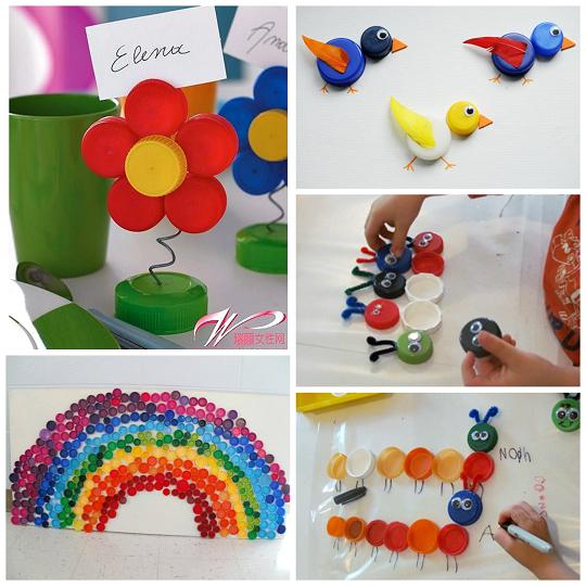 Plastic Bottle Cap Lid Crafts For Kids Bricolages Avec Des