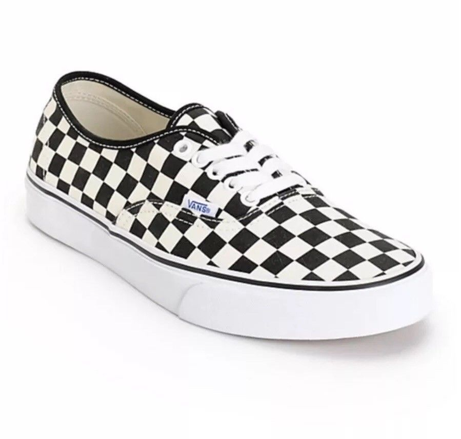 b822671ae28 Vans Checkerboard Classic Era Lace Up Sneaker Black White Sz Men 9 Womens  10.5