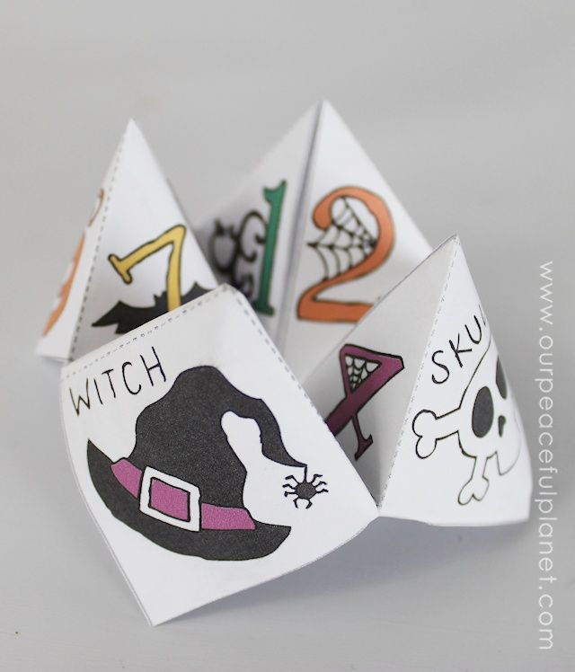 Free Halloween Cootie Catcher Template · Catcher, Free printable - cootie catcher template