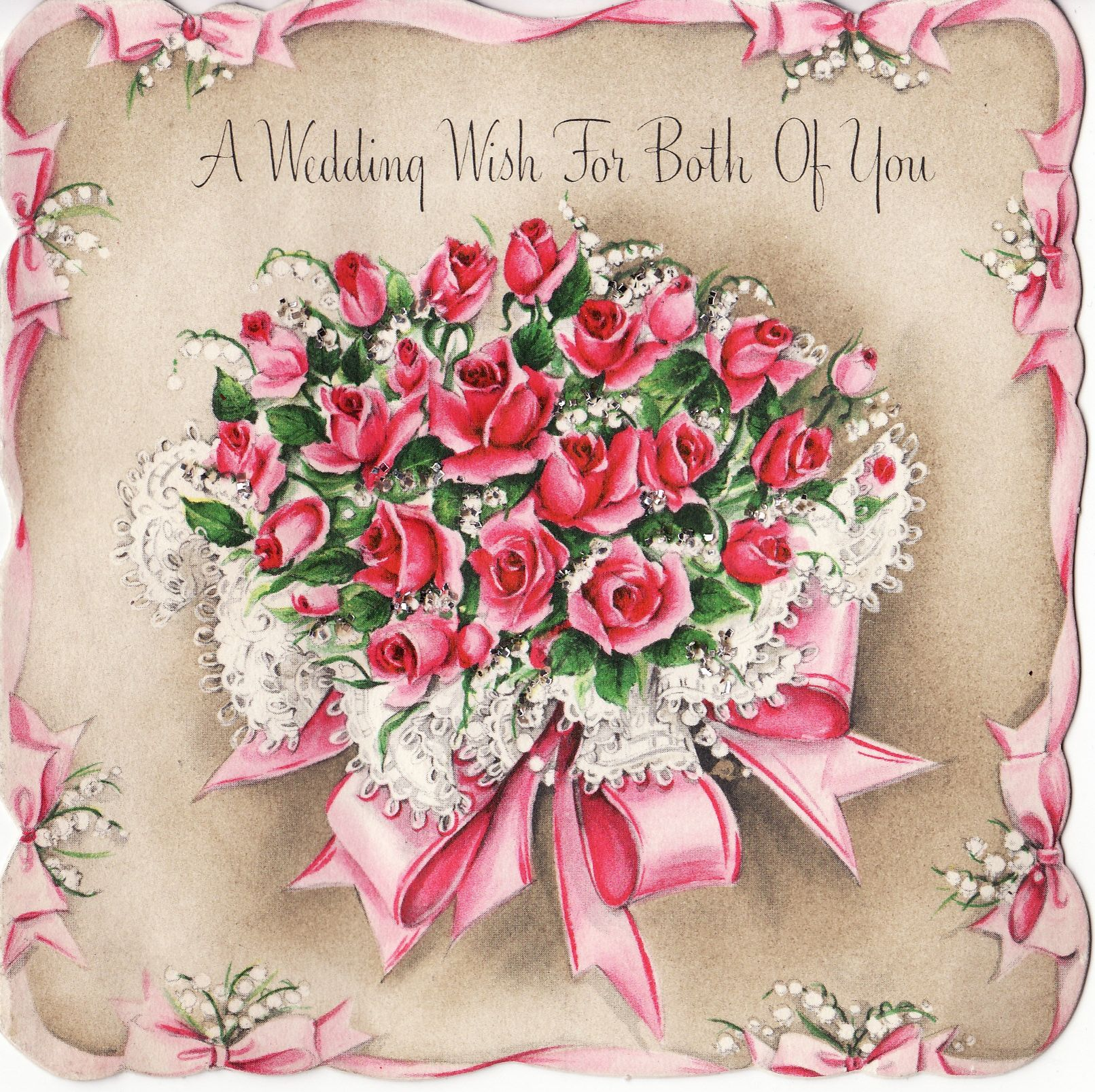A Wedding Wish For Both Of You Vintage Greeting Cards Pinterest