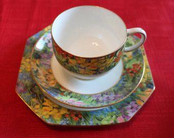 Antique Paragon China Tea Cup Trio Springtime Star China English Fine Bone China Tea Set, Wedding Gift, Bridal Tea Party Table