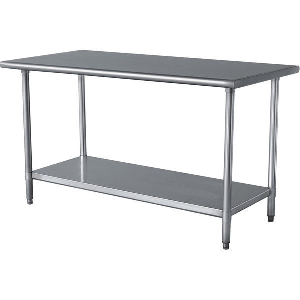 Superior Stainless Steel Kitchen Table Top Part - 6: Sportsman Stainless Steel Kitchen Work Table 24 In. X 49 In.-SSWTABLE At  The Home Depot - Laundry Room?