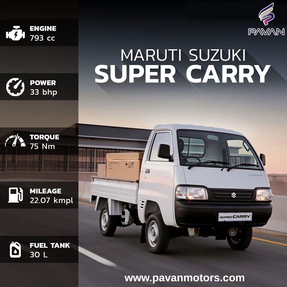 The Maruti Suzuki Super Carry Comes With A Features Like Cab Chassis Powerful Engine Wider Wind Screens Orvms Additional Rear Reflectors An Foto Perkawinan