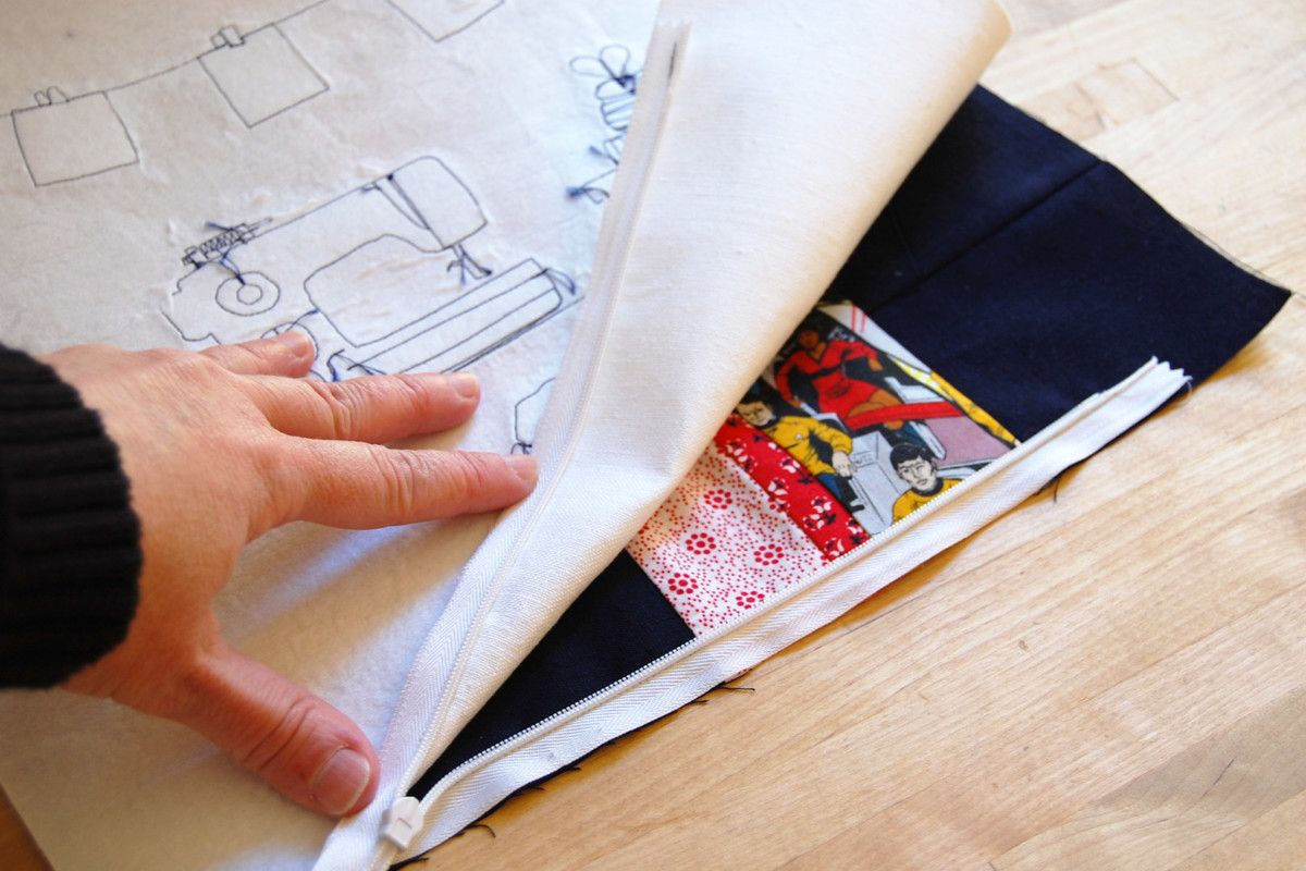Invisible Zipper Pillow Cover Tutorial WeAllSew Pillow