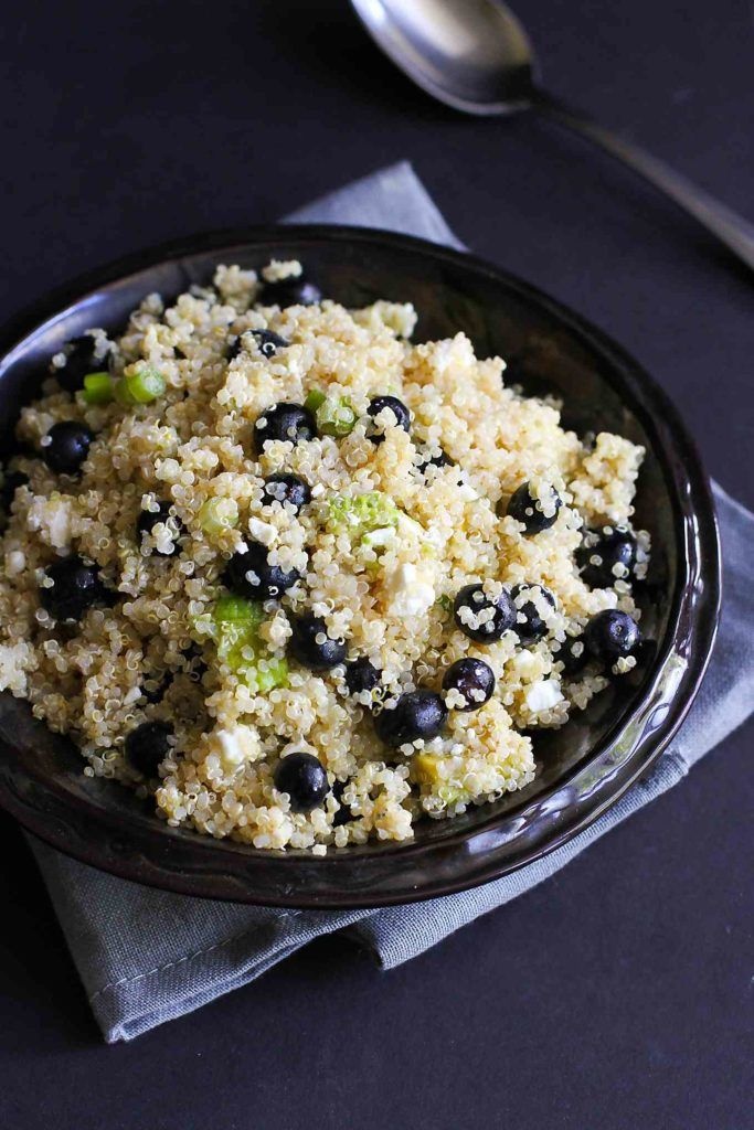 Punch up the flavors of your summertime meal with a dose of this Quinoa, Avocado and Blueberry Sala