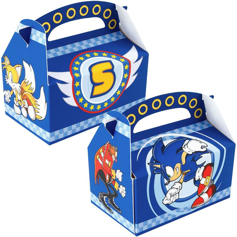 Sonic the Hedgehog Empty Favor Boxes (4 count) [Party