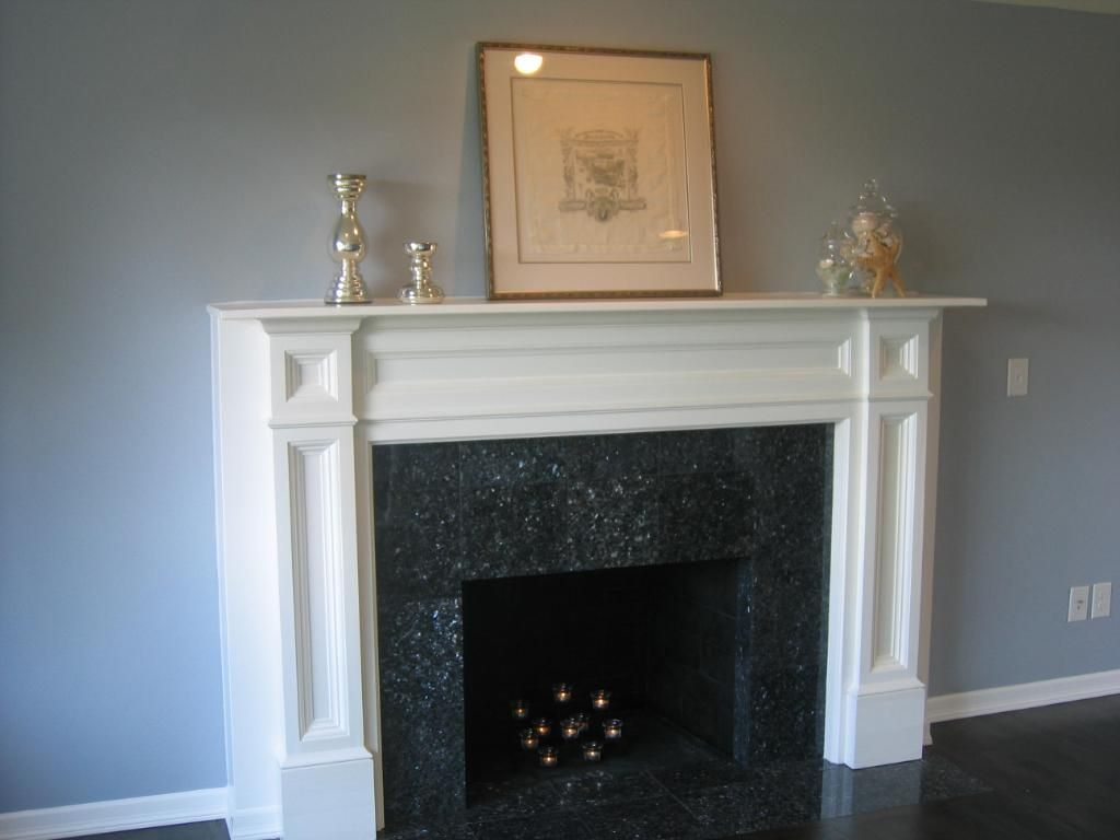 Pearl mantels classique wood fireplace mantel surround for Wood fireplace surround designs