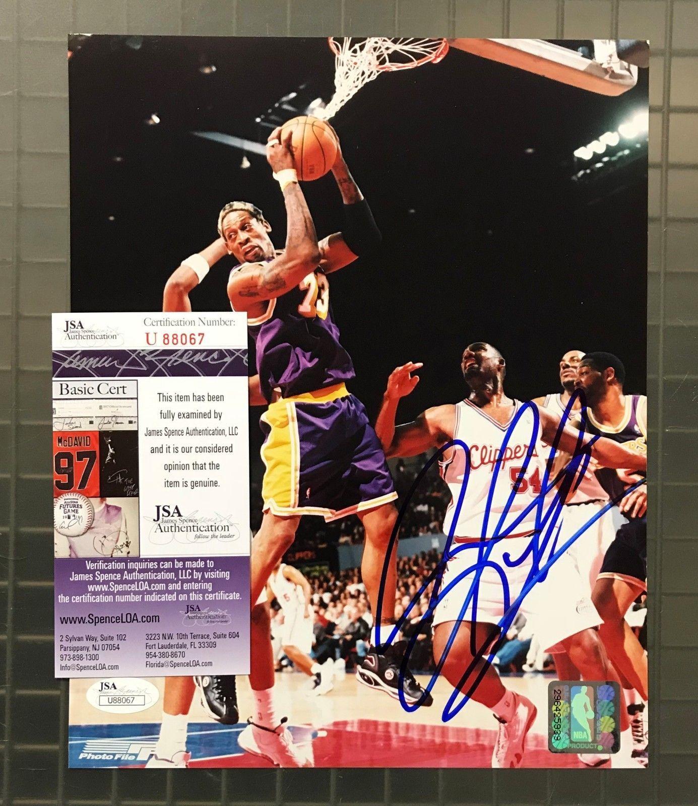 Dennis Rodman Signed 8x10 Photo Autograph AUTO JSA COA Los Angeles Lakers  HOF  Basketball eb89e88ce