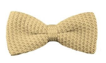 Mens Bow Tie Beige Knitted Bow Tie / Knit by TheBowTieStation, $12.99