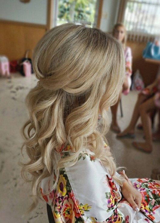 20 Half Up Hairstyles For Wedding 2017 2018 ucesy Pinterest