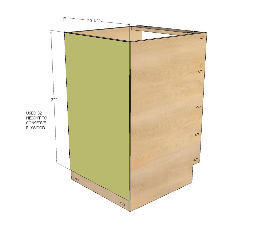 "Diy Kitchen Cabinet Plans: 21"" Base Cabinet Door/Drawer Combo (Momplex White Kitchen"