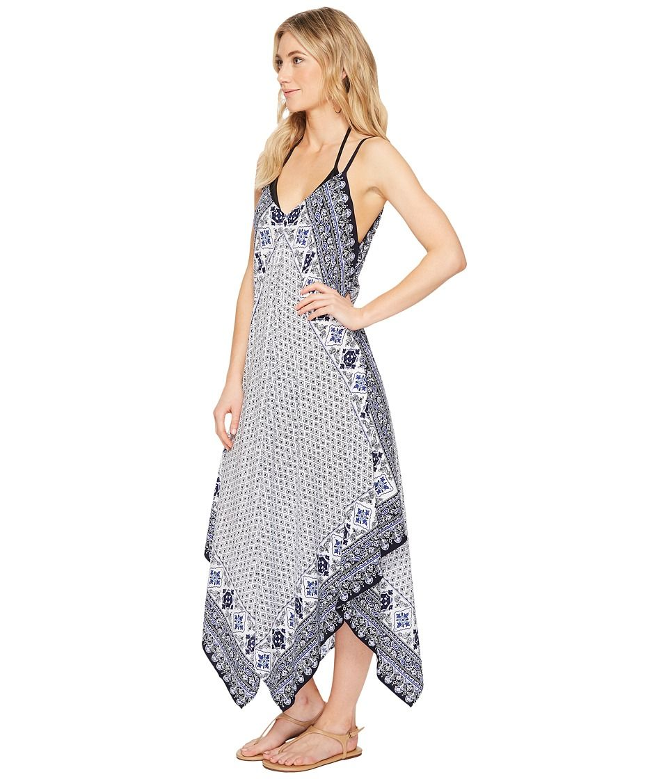 b730035c50 Tommy Bahama Tika Tiles Scarf Dress Cover-Up Women's Swimwear Dark Sanibel  Blue