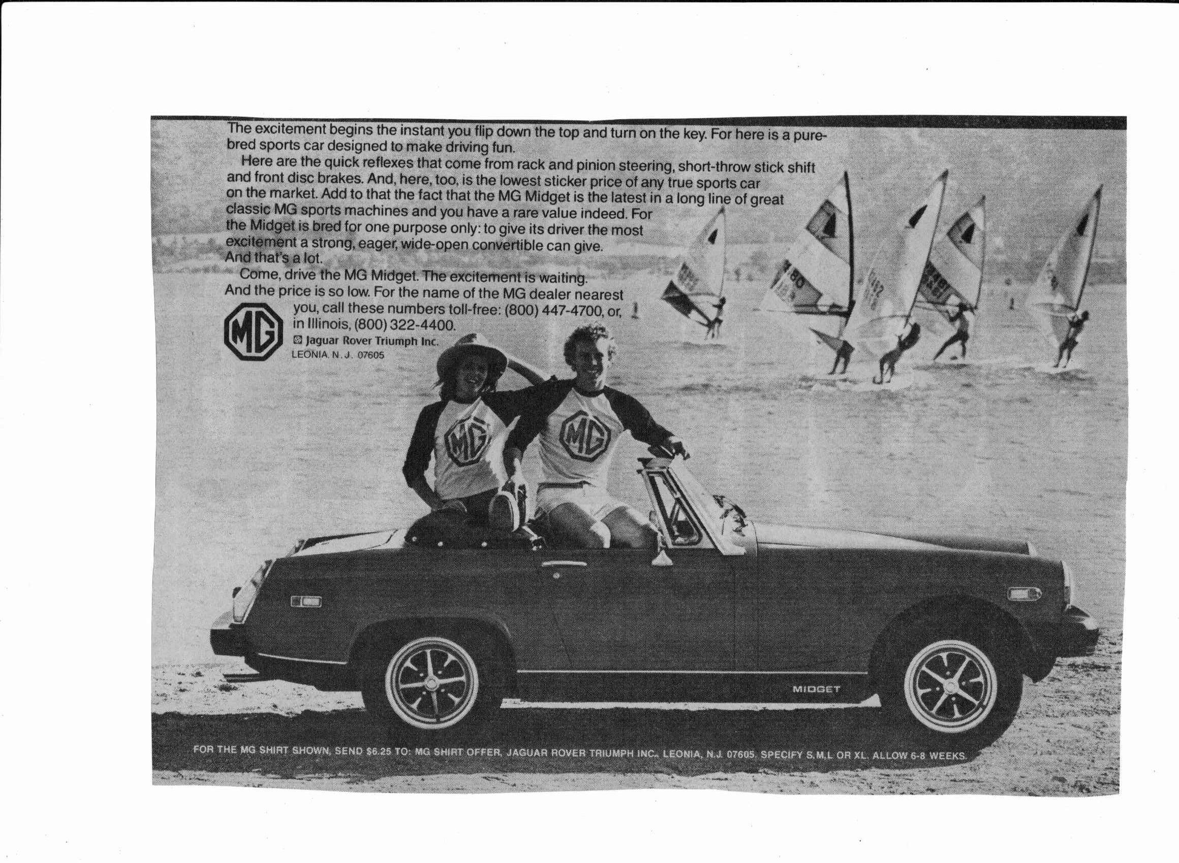 MG Midget TC 1946, one of three sales advertisings