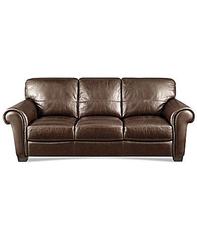 Htl Quot Concord Quot Leather Sofa Dillards Com For The Home