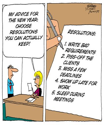 Humor - Cartoon: New Year\'s resolutions you can keep! Happy New Year ...