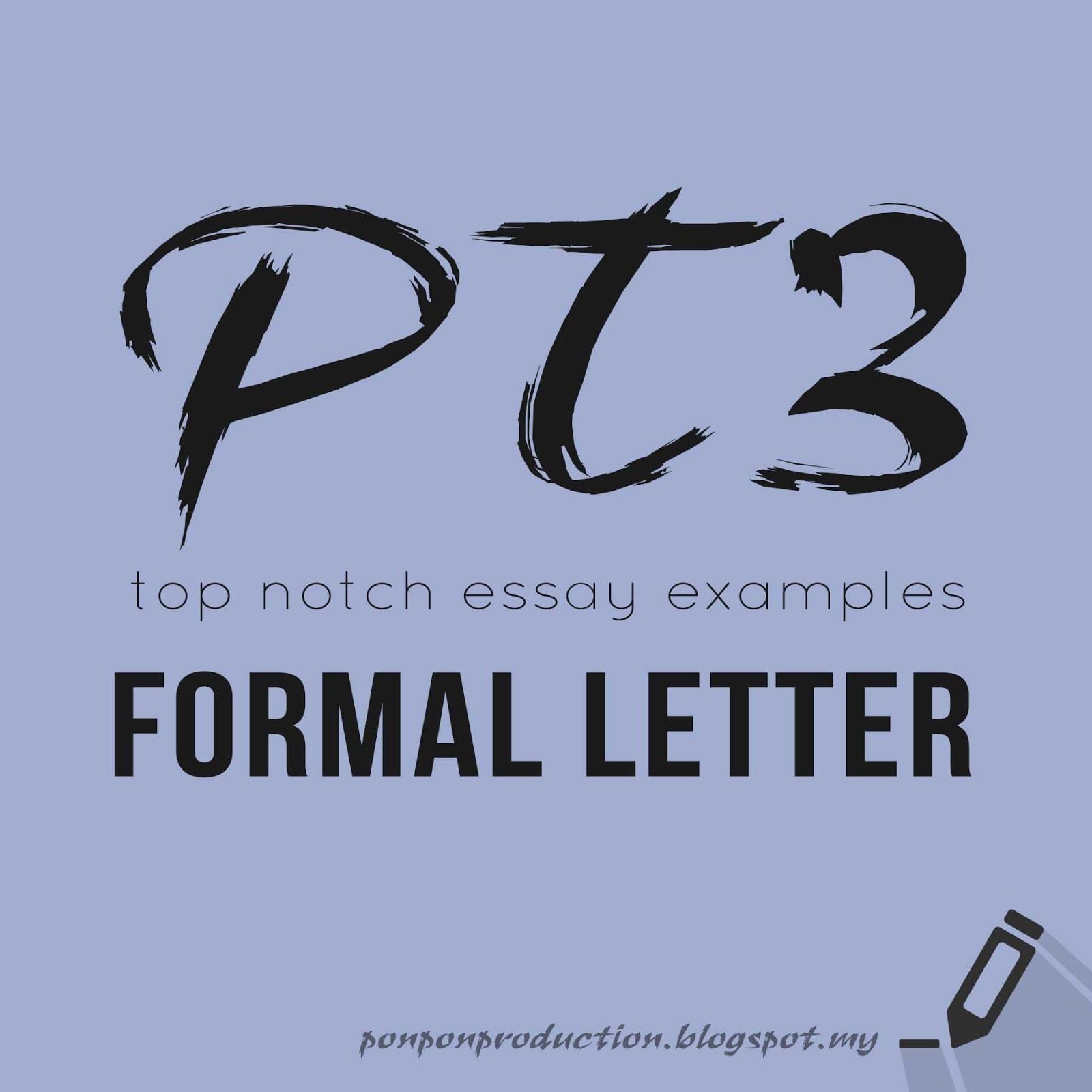 Pt Formal Letter Essay Example  Pt And Spm  Pinterest  Essay  Pt Formal Letter Essay Example