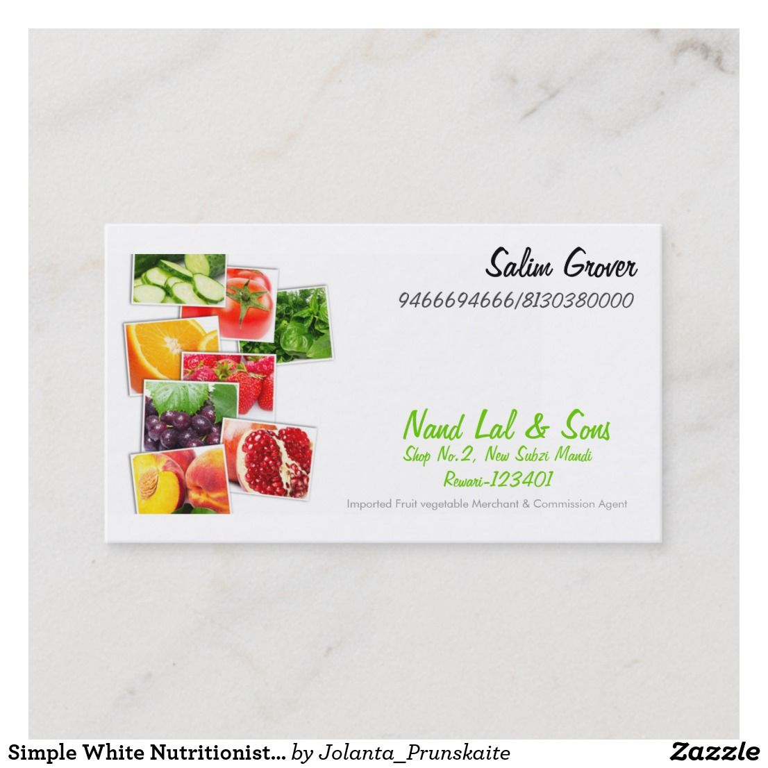 Create Your Own Business Card Zazzle Com Nutritionist Business Cards Create Your Own Business Lessons For Kids