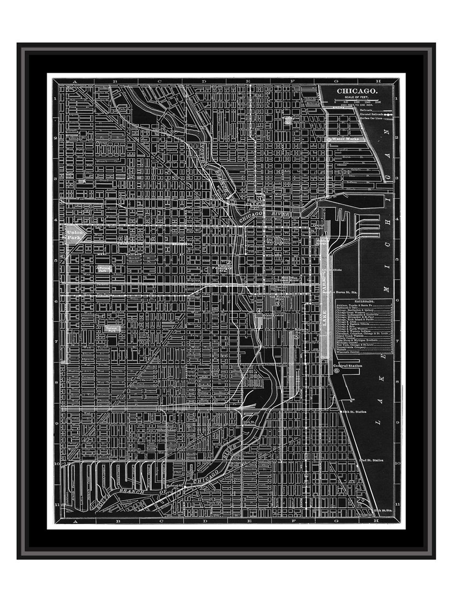 Chicago Map Canvas.Ptm Images Chicago Map Canvas With Floater Frame Home Fashion