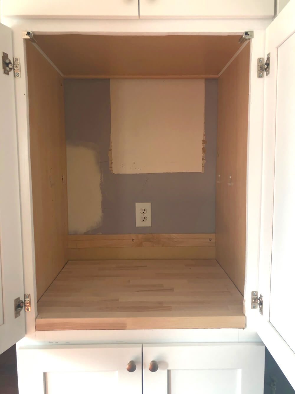 How To Modify A Single Wall Oven Cabinet in 2020 | Single ...