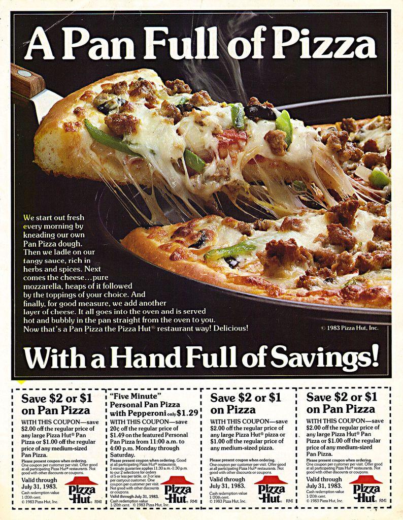 Pizza Hut Ad Retro Recipes Vintage Recipes Food