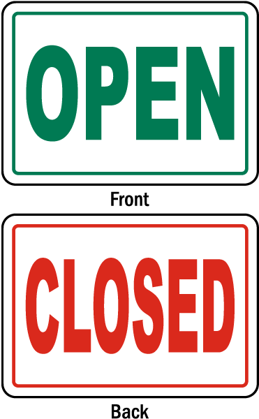 Business Open Closed Sign R5500 Open Closed Signs Closed Signs Preschool Labels
