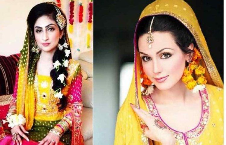 Mehndi For The Hair : Bridal hairstyles for mehndi function holud