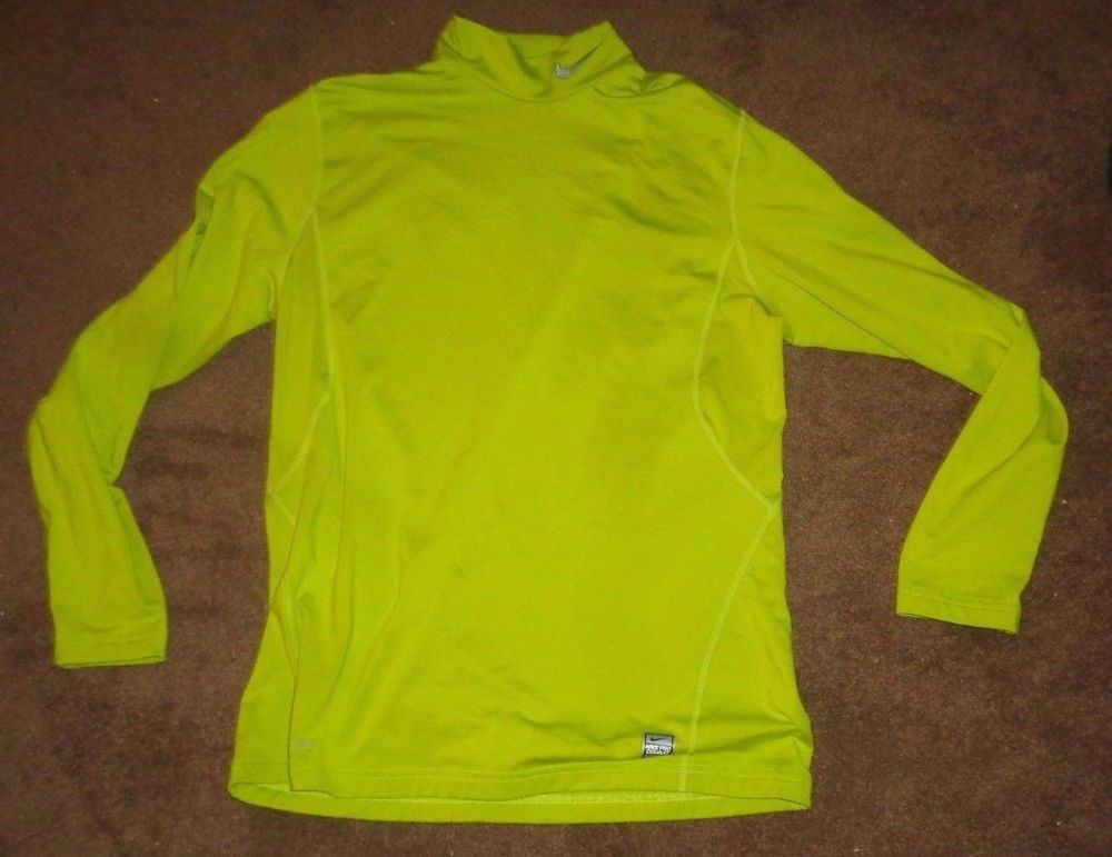 b608a1481 Lime Green NIKE Dri-Fit Combat Pro Turtle Neck Long Sleeve Men's L Large  #fashion #clothing #shoes #accessories #mensclothing #shirts (ebay link)