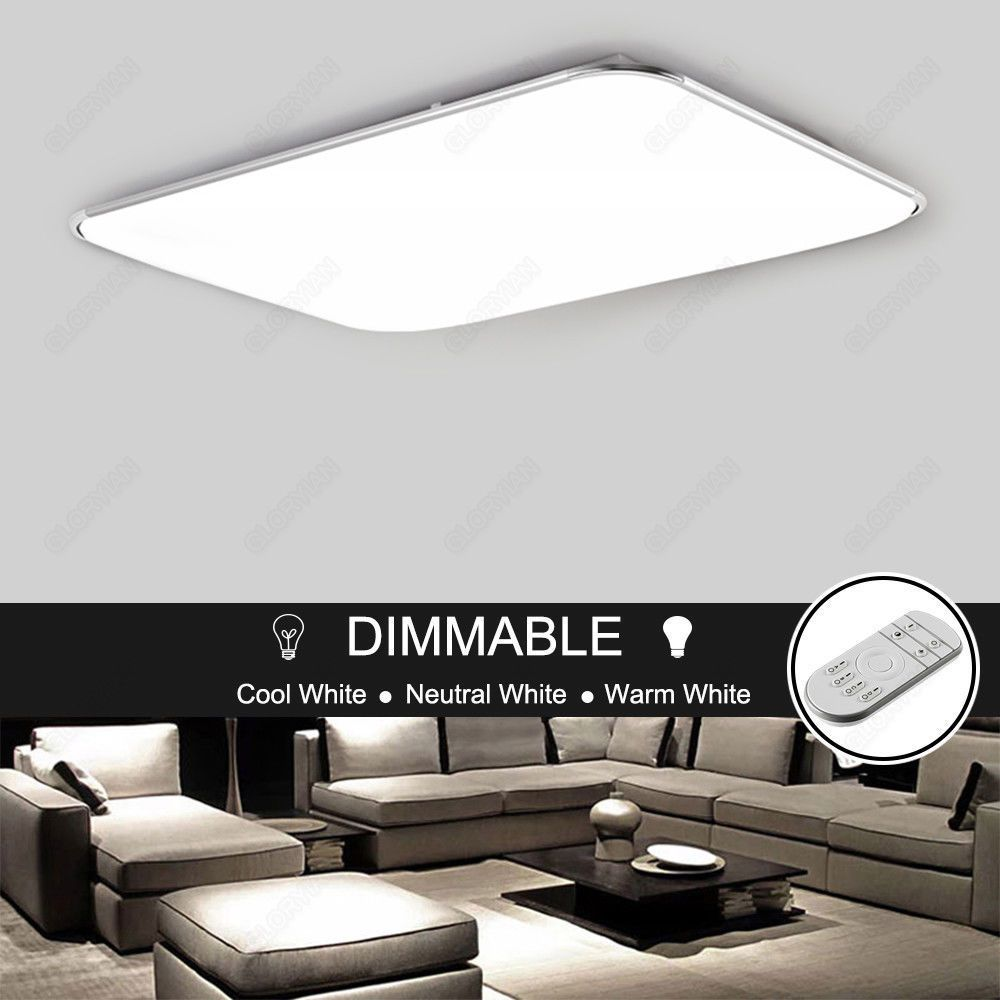 LED Ceiling Panel Light Fixtures Bedroom Living Room Surface Flush ...