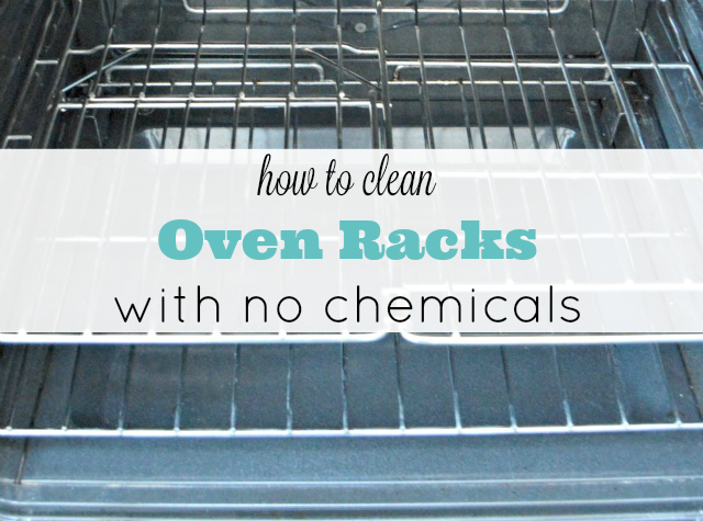 how to clean oven racks with baking soda