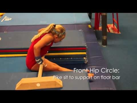 Bars Front Hip Circle Youtube Turnen Oefeningen Gymnastiek