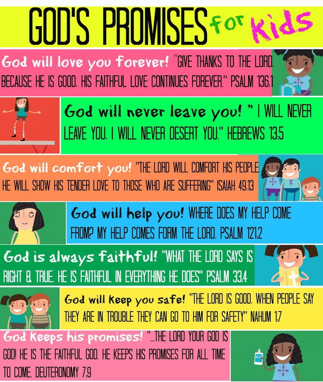 Image Result For God S Promises For Children