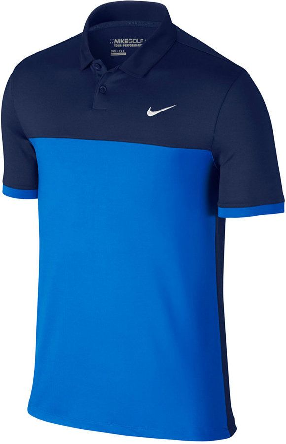 5298ddcf9 The perfect shirt designed for the modern golfer, this color-blocked Icon golf  polo from Nike features Dri-FIT technology to keep you cool and dry for all  ...